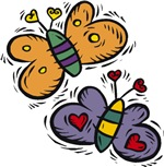 Butterflies with Hearts T-shirts & Gifts