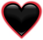 Black Glossy Heart Anti Valentine T-shirts Gifts