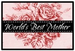 Pink Toile World's Best Mother Mom T-shirts Gifts