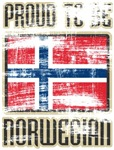 Proud to be Norwegian Distressed T-shirts & Gifts