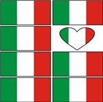 Italian Heart Flags t-shirts gifts