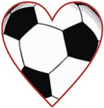Valentine Soccer Heart t-shirts gifts