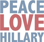 Peace Love Hillary Clinton T-shirts Gifts