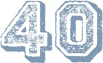Blue 40 Years Old Birthday T-shirts Gifts