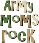 Military Army Moms Rock T-shirts Gifts