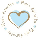 Mom's Favorite Boy Heart T-shirts Gifts
