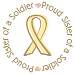 Proud Soldier Sister Yellow Ribbon T-shirts Gifts
