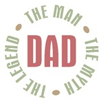 Dad The Man the Myth The Legend T-shirts Gifts