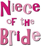 Niece of the Bride Wedding Party T-shirts Gifts