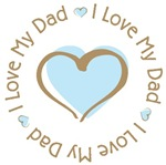 I Love My Dad Blue Heart T-shirts Gifts