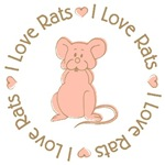 Sweet I Love Heart Rats T-shirts Gifts
