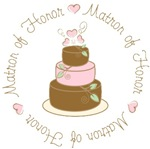 Sweet Matron of Honor Wedding Cake T-shirts Gifts