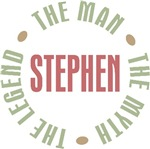Stephen The Man The Myth The Legend T-shirts Gifts