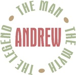 Andrew the Man the Myth the Legend T-shirts Gifts