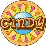Cindy Name Bright Flower T-shirts Gifts