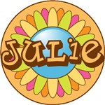 Julie Name Bright Flower T-shirts Gifts