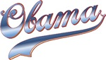 Obama Baseball Style Swoosh Design T-shirts Gifts
