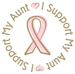 Breast Cancer Support Aunt T-shirts Gifts