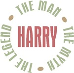 Harry the Man the Myth the Legend T-shirts Gifts
