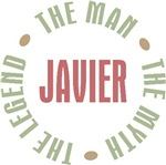 Javier the Man the Myth the Legend T-shirts Gifts