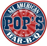 Pop's All American Bar-b-q T-shirts Gifts
