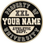 Round Your Last Name Athletic Department T-shirts