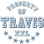 Property Of Travis Personalized T-shirts Gifts