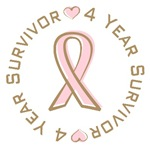 4 Year Breast Cancer Survivor T-shirts Gifts