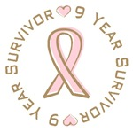 9 Year Breast Cancer Survivor T-shirts Gifts