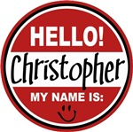 Hello My name is Christopher Tag T-shirts Gifts