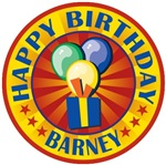 Happy Birthday Barney Personalized T-shirts Gifts