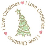 I Love Heart Christmas Tees Gifts