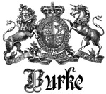 Burke Vintage Family Name Crest Tees Gifts