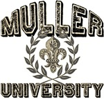 Muller Last Name University Tees Gifts