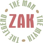 Zak Man Myth Legend Tees Gifts