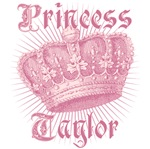 Vintage Princess Taylor Crown Tees Gifts