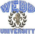 Webb Last Name University Tees Gifts