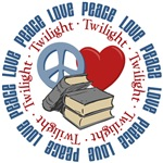Peace Love Twilight Book Tees Gifts