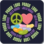 Peace Love Jelly Beans Tees Gifts