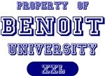 Property of Benoit Name University Tees Gifts