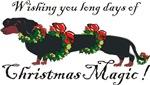 Dachshund in Wreaths (black and tan)