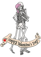 Happy Valentine's Day Skeletons