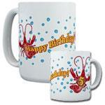 Happy Birthday Crawfish Mugs