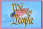 We The People in gold