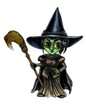 This cute little Anime witch could be the Wicked Witch of the West or just any special halloween witch.  If you are a little bit of bad but a lot of cute, then this is the perfect witch for you.