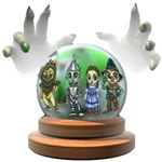 The Wicked Witch of the West scrys the Oz Gang through her magical crystal ball.  With Dorothy Gale, the Scarecrow, Tin man and the Cowardly Lion seemingly in the clutches of the Wicked Witch.