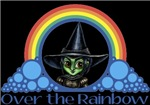 With all the colors of the rainbow, this Wonderful Wizard of Oz inspired design capturesWicked Witch of the West Over the Rainbow.  The perfect gift for any Oz fan.