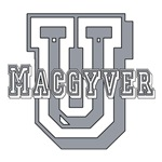 Are you a proud student of MacGyver University?  Do you enjoy watching Richard Dean Anderson in the MacGyver television series as he uses everyday objects to do amazing things?  Then this MacGyver tshirt is just right for you.