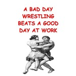 a funny wrestling joke on gifts and t-shirts.