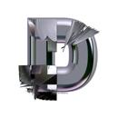 Heavy Metal initial letter D monogram